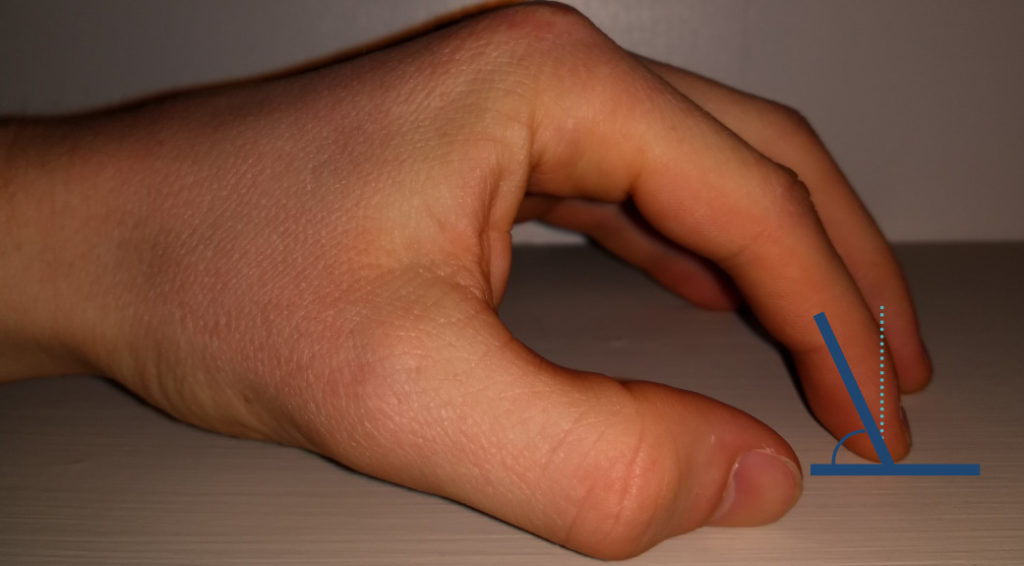 Example of appropriate hand posture for learning scales