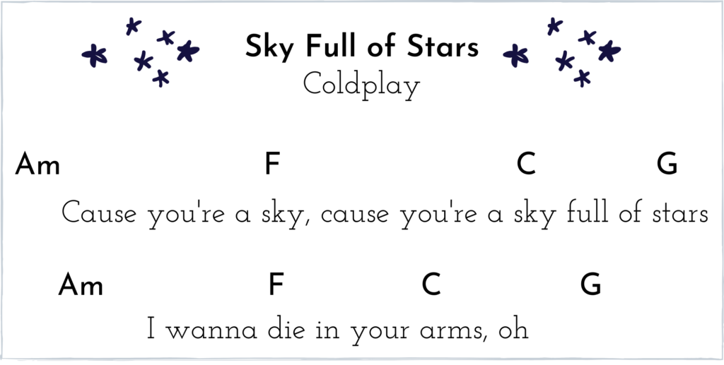 Sky Full of Stars Excerpt with Chords
