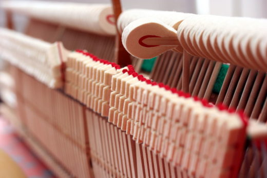 Voicing a Piano (image of piano hammers)