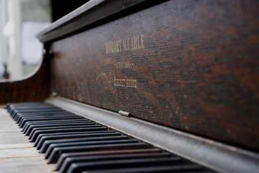 How to tell a piano is out of tune - an old grand piano